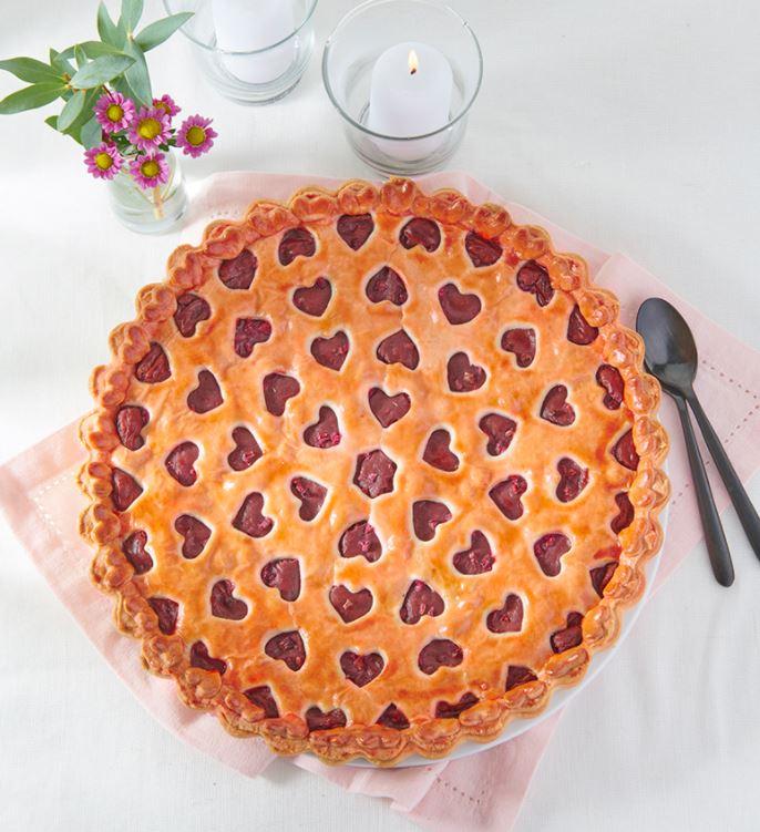 Voir la recette de la tarte à la framboise