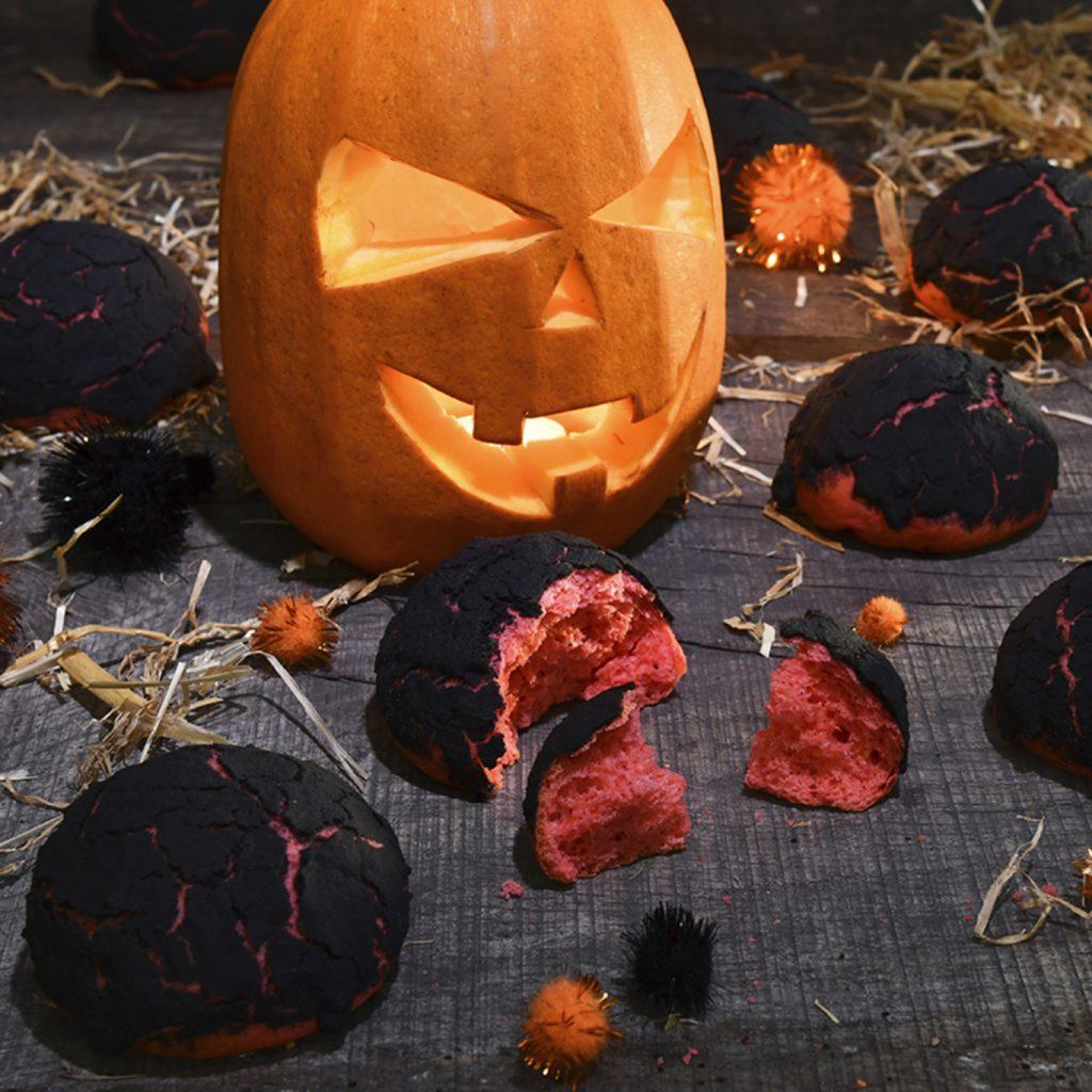 Recette des Petits pains lave d'Halloween
