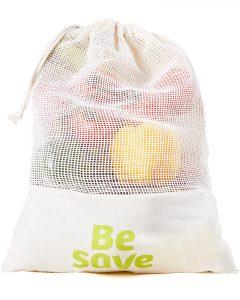Le pochon à légumes Be Save® en coton bio réutilisable