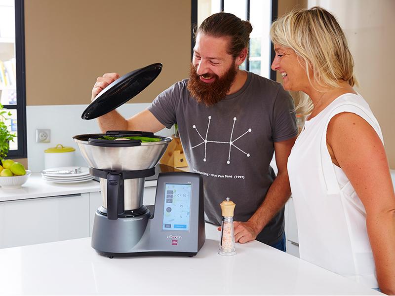 Découvrez le robot de cuisine multifonction connecté i-Cook'in qui simplifie votre quotidien !