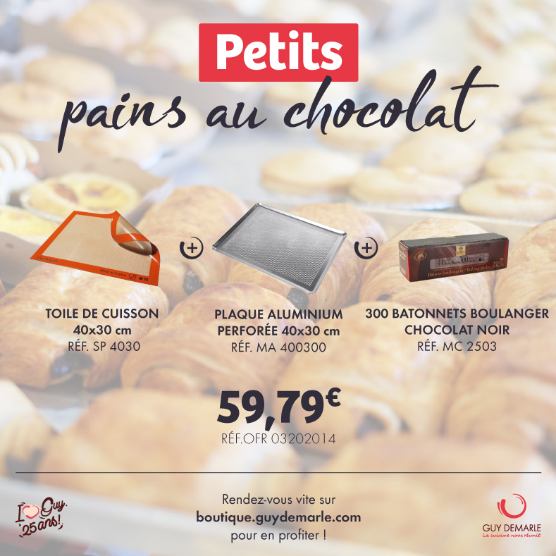 Achetez tout ce dont vous avez besoin sur la Boutique pour de super pains au chocolat !