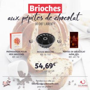 Le Kit Brioche aux pépites de chocolat