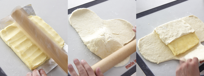 Incorporez le beurre à la pâte