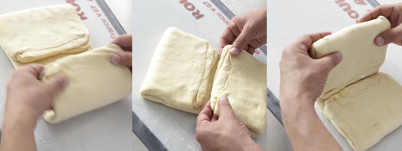 Pliez votre pâte pour finir le tourage