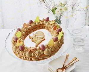 Voir la recette Couronne de Pâques au praliné