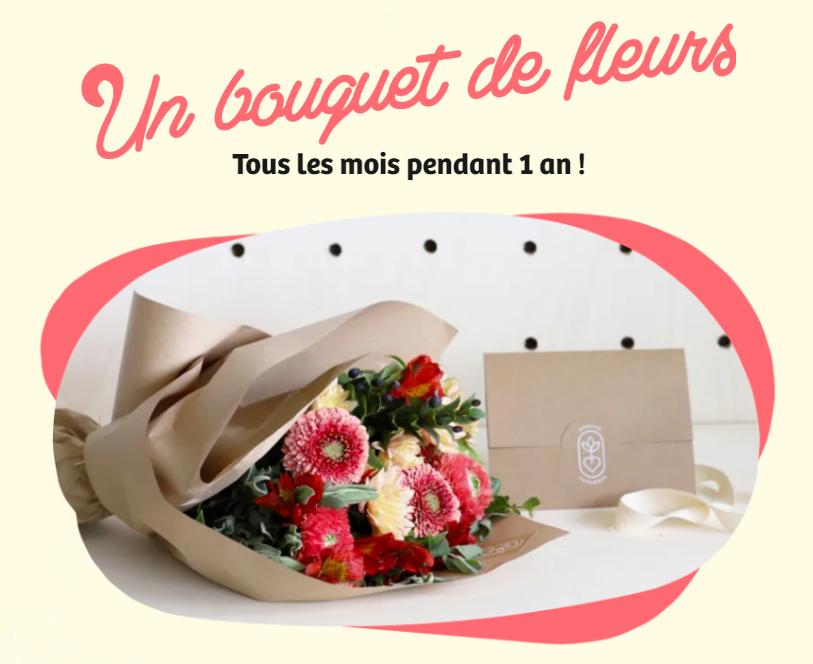 Tentez de remporter un an de fleurs Monsieur Marguerite !