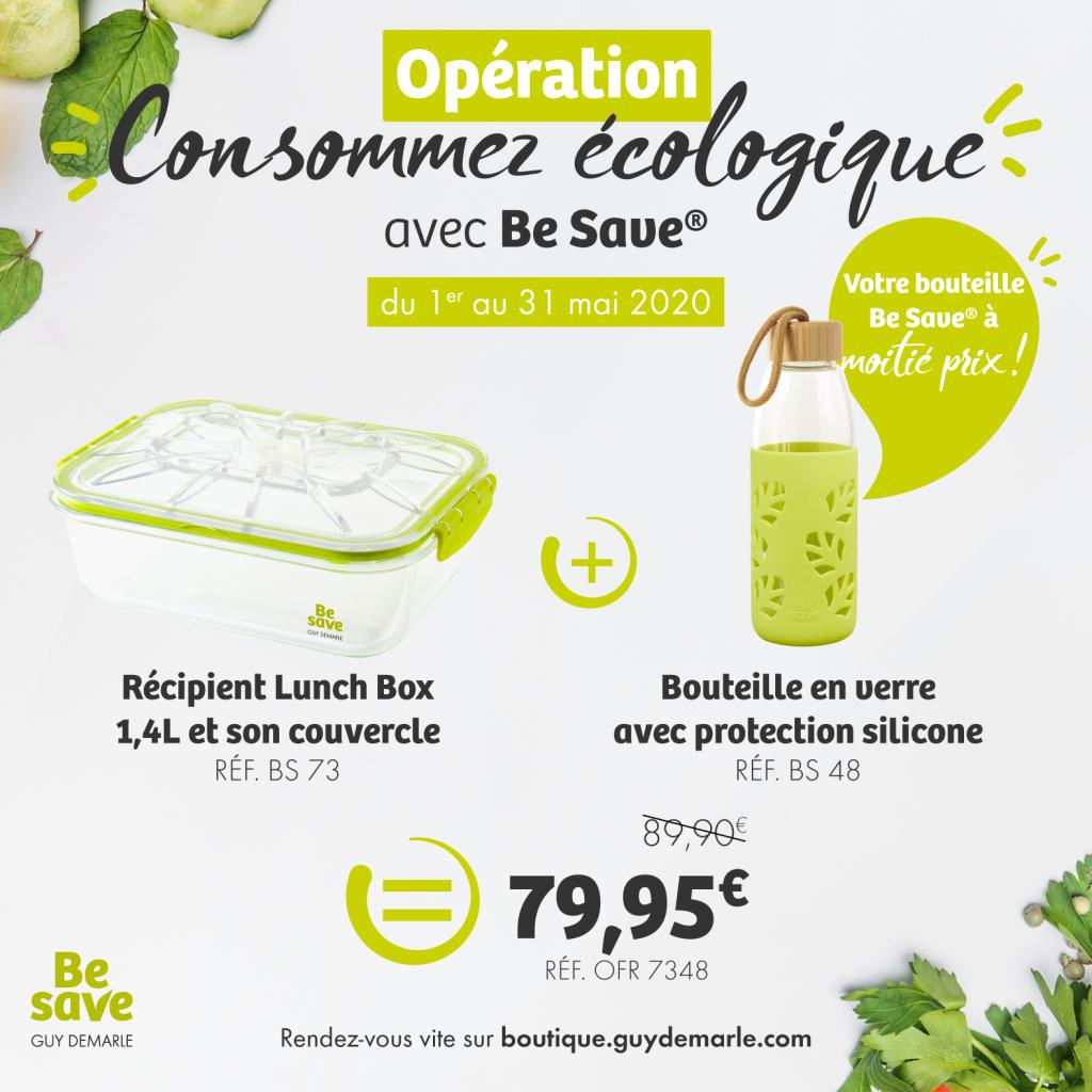 """Profitez de l'opération """"Consommez écologique"""" avec Be Save !"""