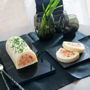 Voir la recette de Terrine de poissons et poivron