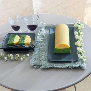 Voir la recette de Bûche polenta épinards et fromages italiens