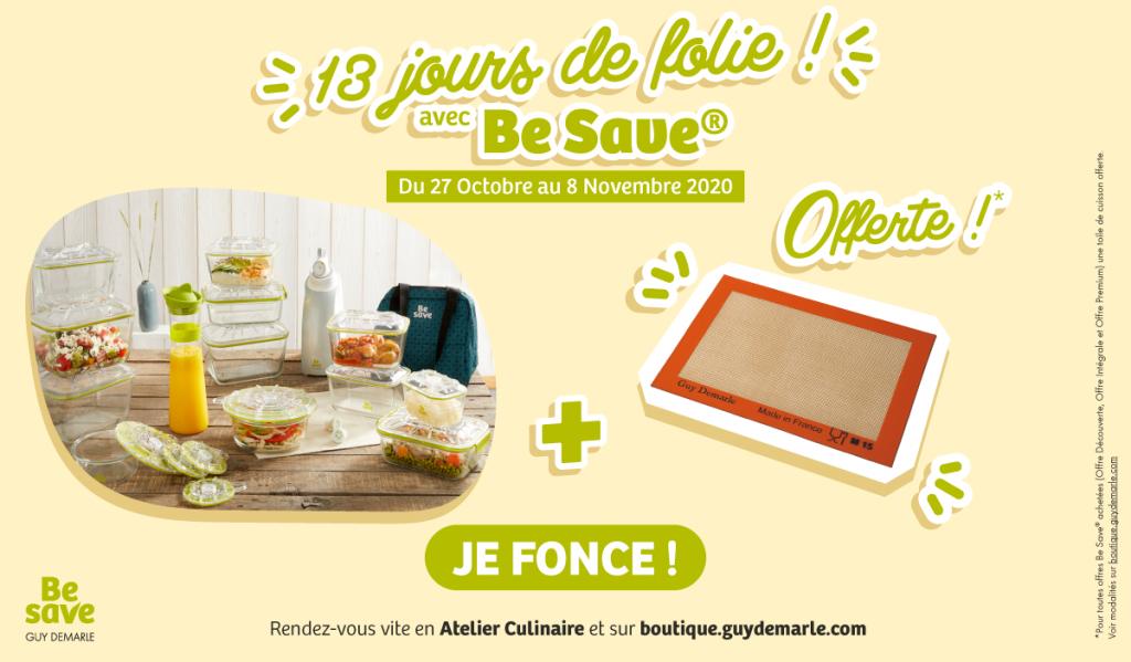 1 toile de cuisson offert pour tout achat d'une offre permanente Be Save !