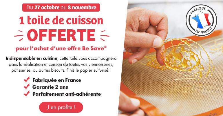 1 toile de cuisson offerte pour l'achat d'une offre Be Save !