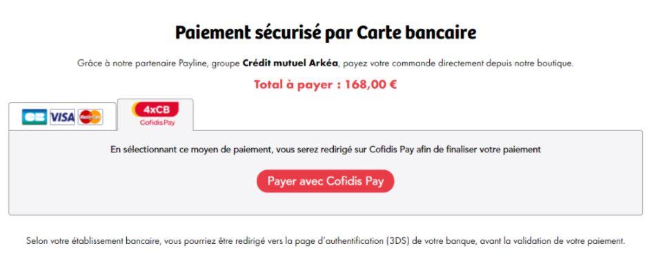 Paiement sécurisé par carte bancaire sur la Boutique