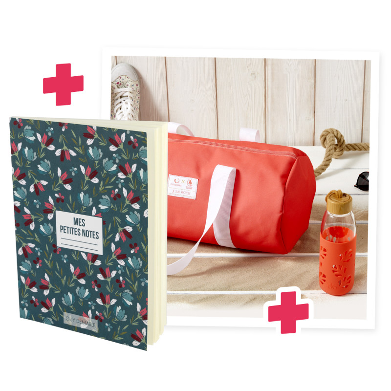 Sac Wings of the Ocean + Gourde Corail + Carnet de note