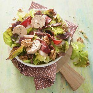 la salade du Sud-Ouest réalisée avec la salade feuille de chêne