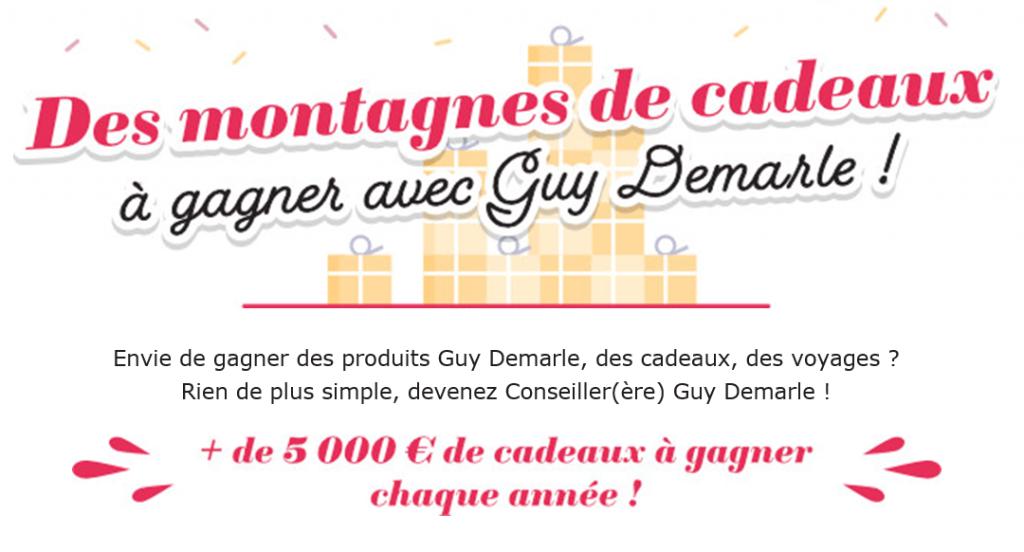 Des montagnes de cadeaux à gagner avec Guy Demarle !